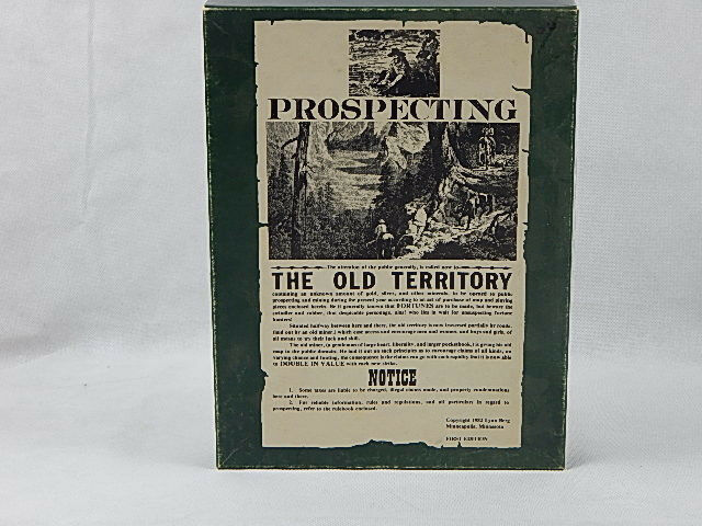 Prospecting The Old Old Old Territory Board Game by Lynn Berg First Edition 1982 184c4b