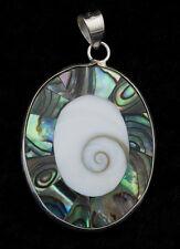 Sainte Lucie-bijoux Argent Massif  925-W28-10056 Pendentif Oeil de Shiva