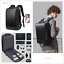 miniature 1 - BANGE Men's Black Backpack15.6 inch Laptop for Work Business  Concise Style
