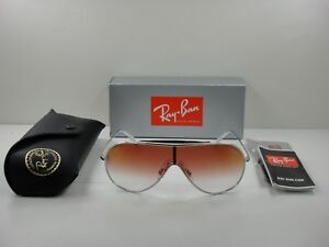 54df32439a2 RAY-BAN WINGS SUNGLASSES RB3597 003 V0 SILVER RED GRADIENT MIRROR ...