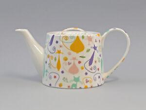 Antiques 9952483 Tea Pot Brillantporzellan Retro Cat 60erjahre Design H12cm 1,2l