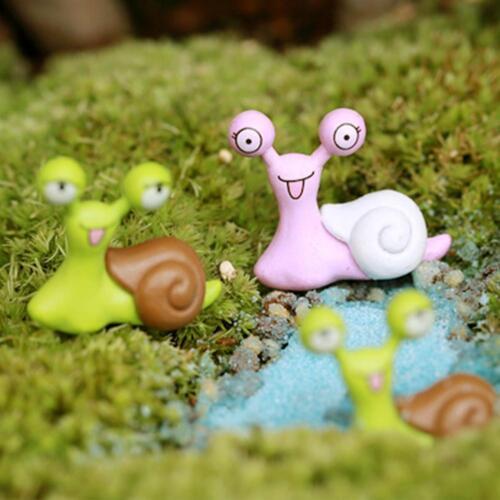 10x Miniature Snails Fairy Garden Dollhouse Figurine Bonsai Ornament Deco kpls