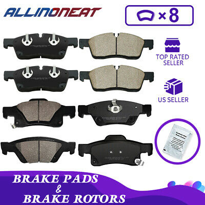 Front /& Rear Brake Pads Fit For 2011-2018 Dodge Durango Jeep Grand Cherokee