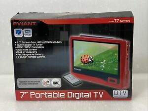 "Eviant T7 7"" Portable LCD TV - RED / Black T7-02"