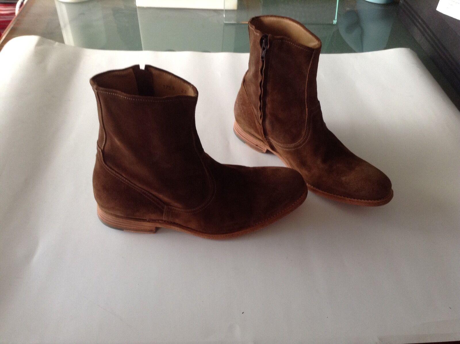 NEU - N.D.C.  made by hand  Side Zip Boot Herren Gr. 42,5 braun