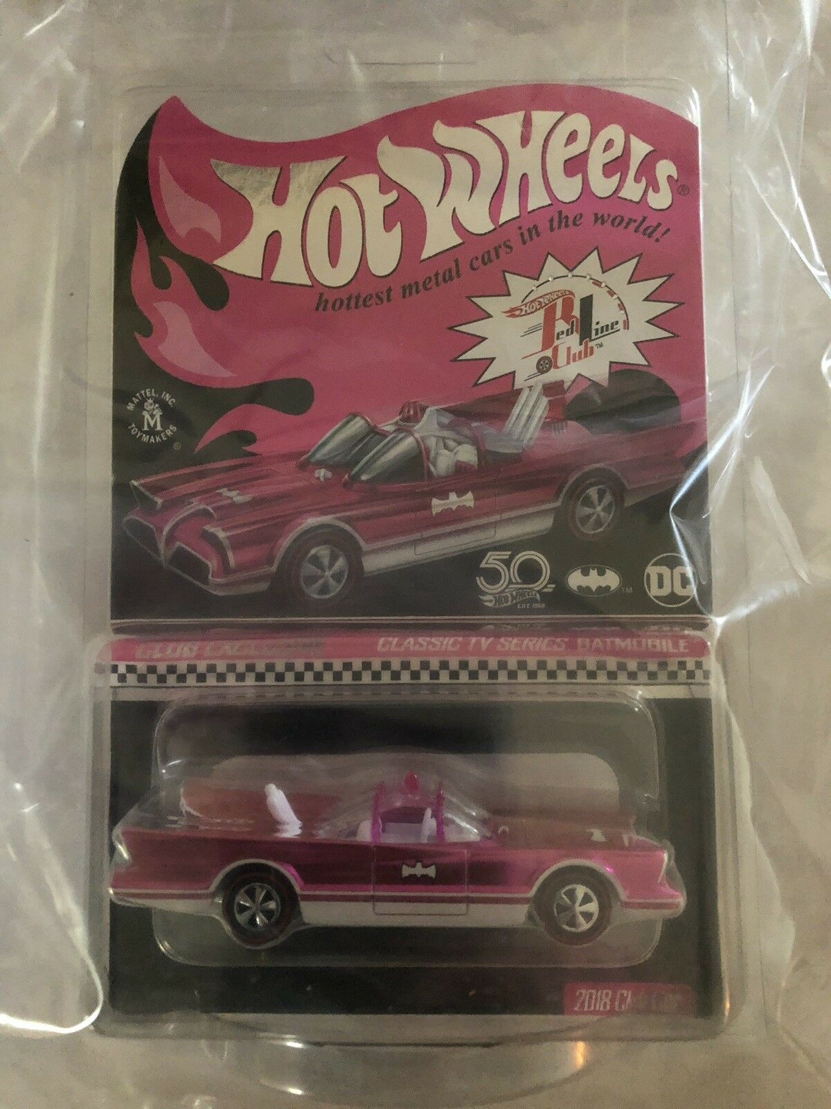 Hot Wheels RLC Pink Party Club CLASSIC TV SERIES BATMOBILE Convention ON HAND