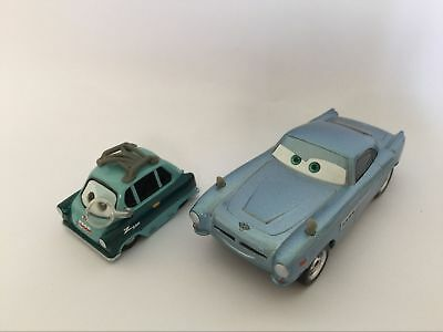 Cars 2 Finn McMissile and Professor Z Diecast Toy Car 1:55 Loose Kids Toys New