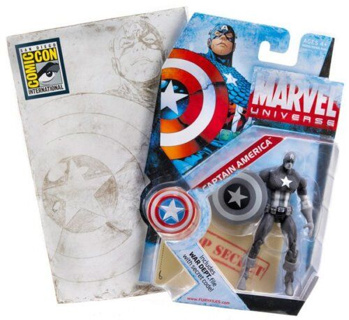 MARVEL UNIVERSE_CAPTAIN AMERICA Grauscale action figure_Comic Con 2009 Exclusive