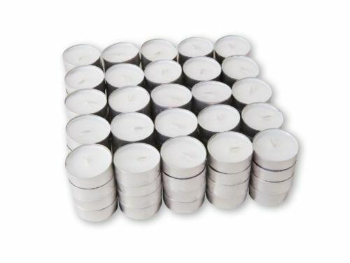 10 Tea Lights White Unscented Unfragranced Candles 3.5 Hours Burning FAST DELIV