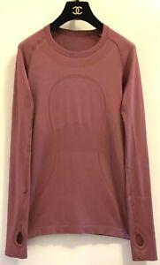 Lululemon-RECENT-Women-039-s-Run-Swiftly-Tech-Mauve-Purple-Pink-Long-Sleeves-Sz-6