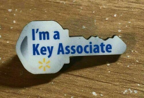 Rare Walmart Lapel Pin Key Associate Spark Wal-Mart Pinback