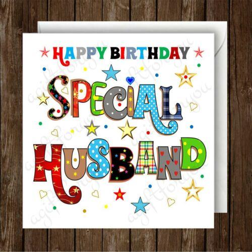 Fun Card. Happy Birthday Special Husband Greeting Card Birthday Card