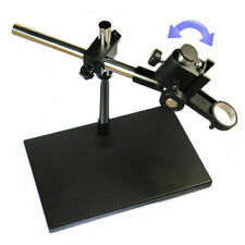 Heavy Duty Dual Arm Metal Boom Stereo Microscope Table Stand Holder Ring