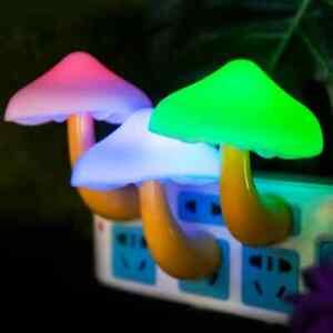 Mushroom-LED-Sensor-Plugin-Wall-Child-Night-Decor-Light-Lamp-for-Bedroom-Hallway
