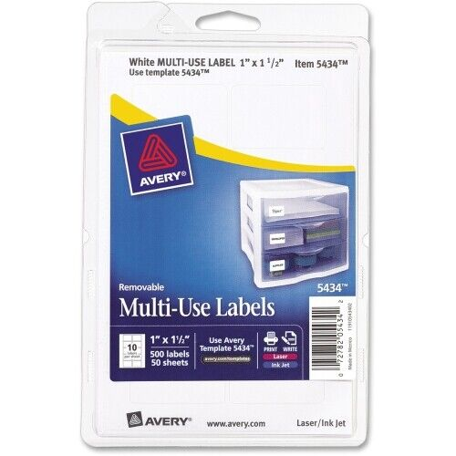 Avery Labels Removable All Purpose Labels 525ct Avery 6737 Tags label