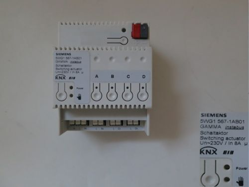 KNX//EIB Siemens 5WG1 567 1AB01 Switch Actuator 8A 4 Channel with scenes
