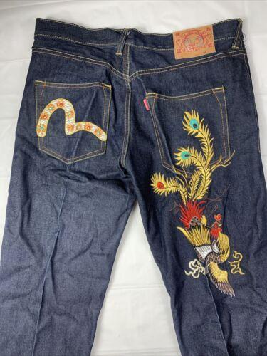 Vintage Rainbow Embroidered Evisu Jeans