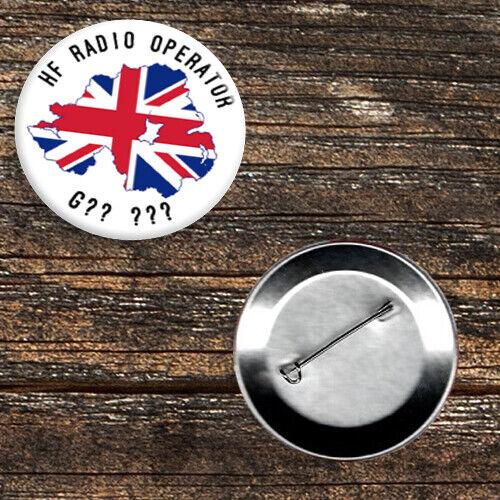 Radio Amateur//HAM Call Sign 59mm Button Badge Northern Ireland Union Flag
