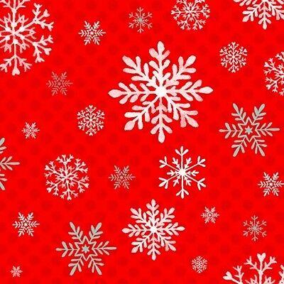 Studio E Peppermint Penguin by Lucie Crovatto 3019S 11 Aqua Snowflake Cotton Fab