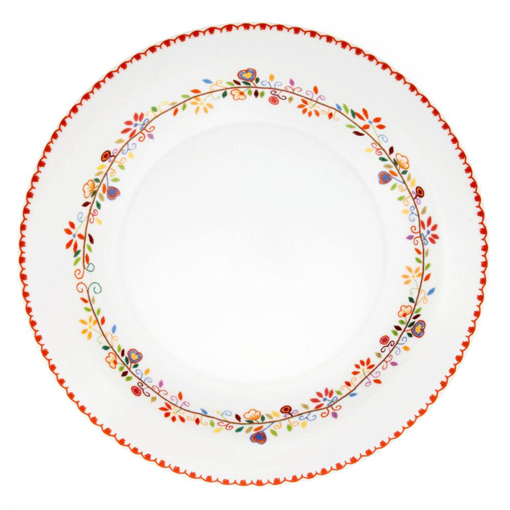 Vista Alegre Porcelain Vila green Deep Round Platter