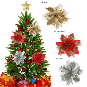 Glitter Flower Arrangement Christmas Tree Hanging Decoration