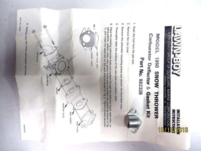 Genuine OEM Lawn-Boy Toro OMC Part 682326 Carburetor Carb Deflector Exhaust