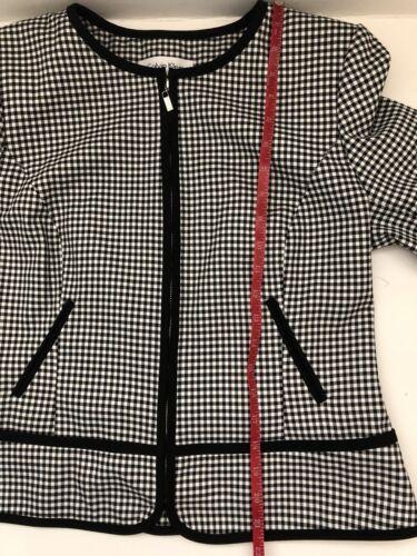 Taglia 3 Calvin Nuovo Gingham 10 Jacket 4 Zip Klein Sleeve Idw8Zw