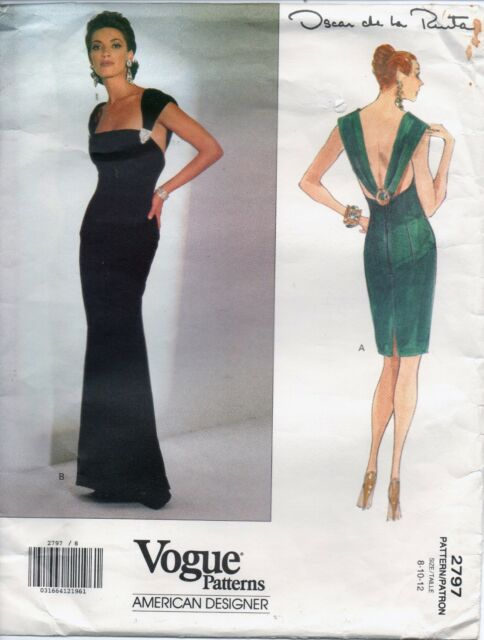 Vogue Sewing Pattern 2797 Oscar De La Renta Elegant Evening Dress ...