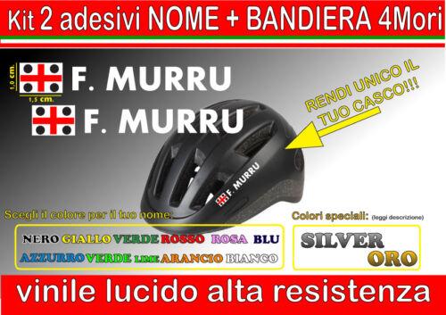 bici kit 2 adesivi CASCO NOME 4 MORI corsa casco moto,downhill mtb sardegna