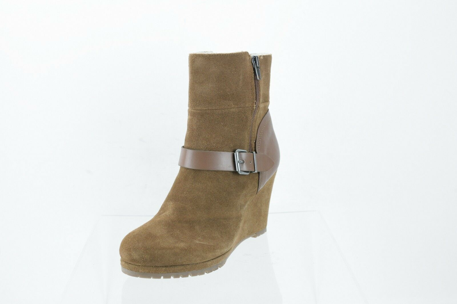 Dolce Vita Gwynn Brown Suede Ankle Boots Women's Shoes Size 8 M NEW RTL $220