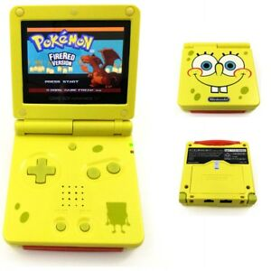 SpongeBob-Yellow-Game-Boy-Advance-GBA-SP-Console-w-AGS-101-Brighter-Backlit-LCD
