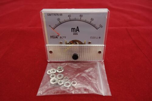 1PC DC 100mA Analog Ammeter Panel Current Meter 85C1 0-100mA directly Connect