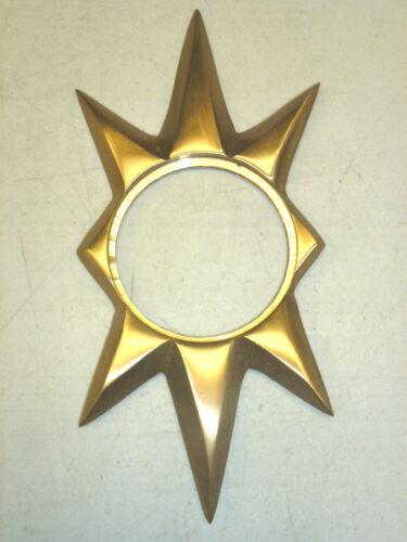 NOS VTG TRIMCO 100 STARBURST DOOR ESCUTCHEON SCHLAGE SATIN BRONZE CAST