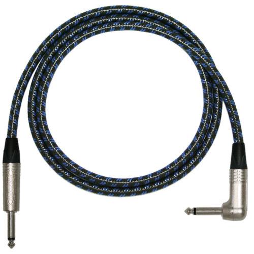 3m Vintage PRO Electric Guitar Lead 1//4 inch Mono Neutrik Jacks 2m 5m Cable