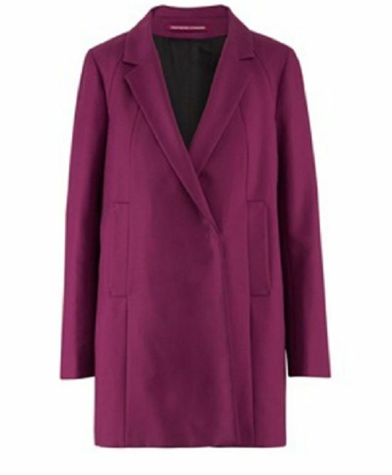 COMPTOIR DES COTONNIERS - COAT MODEL OUMY COTTON PURPLE T T T 40 - NEW & TAG cee144