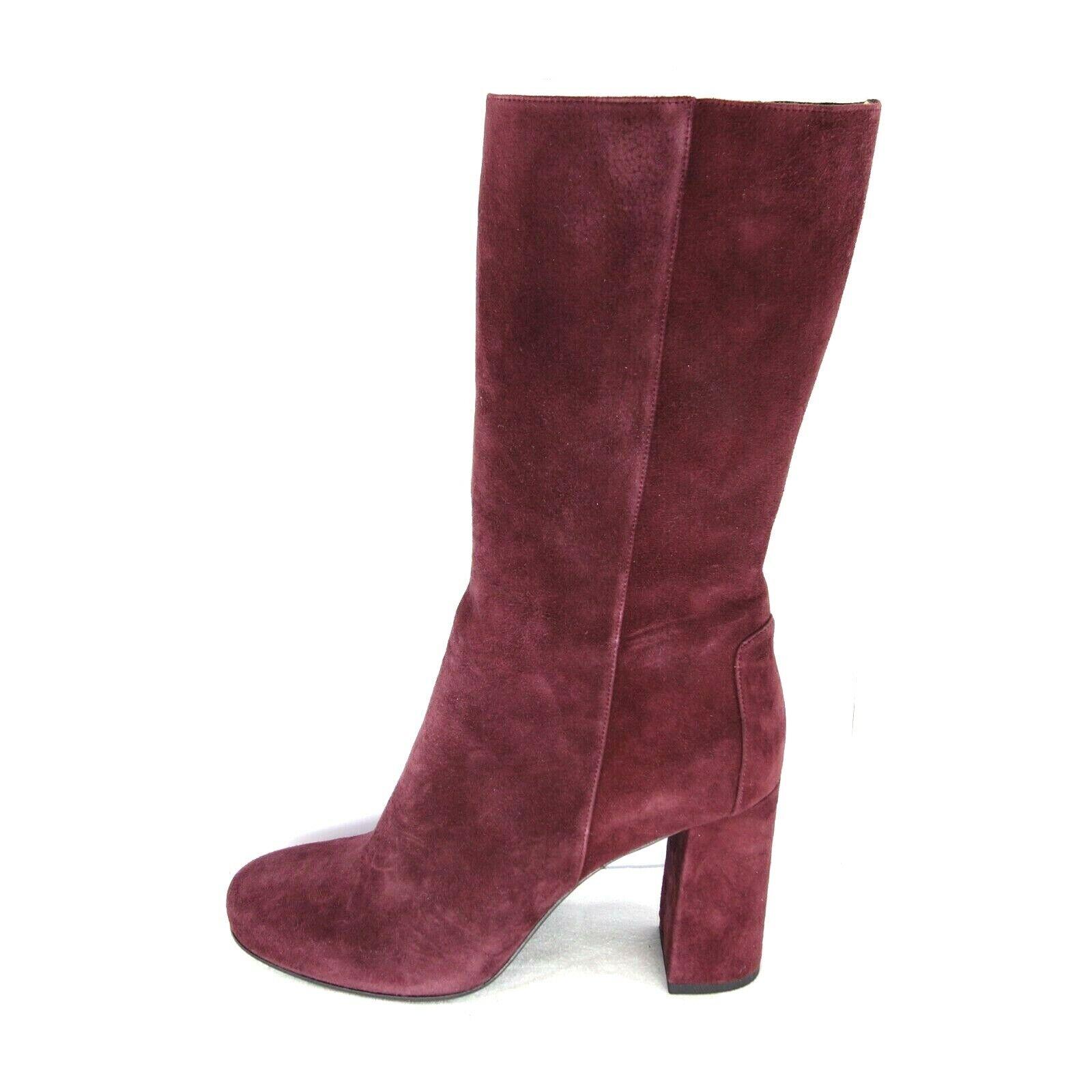 d3b978c2 Trumans botas Mujer 1870 Piel de ante Cuero Bordeaux Rojo Tacón Zapatos Np  425 nojsvy1047-Botas