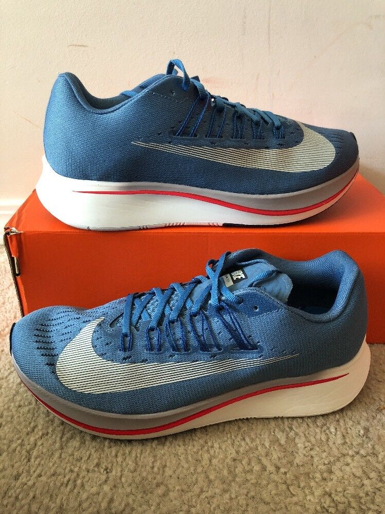 Nike Zoom Fly - SZ 7.5 - NEW - 880848-402 Aegean Storm White Red bluee Street