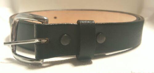BLACK 30mm Cinto de Trabajo Anca de Potro Men/'s Leather Heavy Duty Work Belt