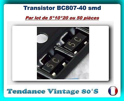 SOT-23 PNP *** *** LOT AU CHOIX DE 5*10*20 OU 50 TRANSISTORS SMD BC807-40