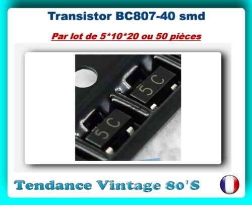 sot-23 pnp *** *** lot your choice of 5*10*20 or 50 smd transistors bc807-40