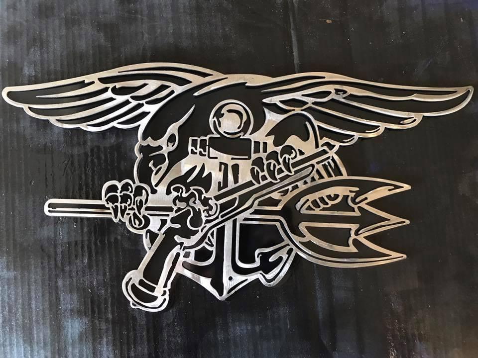 Navy Seal Trident Metal Art
