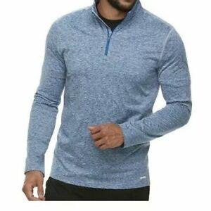 Tek-Gear-1-4-Zip-Athletic-Shirt-Long-Sleeve-Fleece-Lined-Wicking-3XLT-NWT