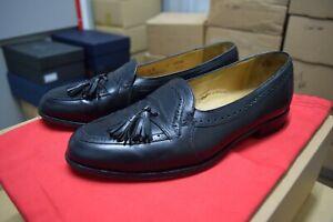 Johnston-amp-Murphy-Black-Loafers-Size-US-8