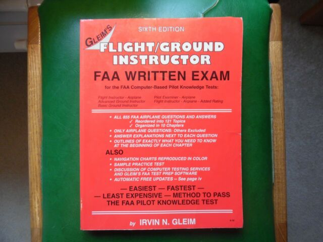 Flight-Ground Instructor FAA Written Exam by Irvin N. Gleim - Pilot Instruction