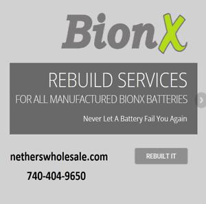 Rebuild service for Trek Valencia Bionx E-Bike battery