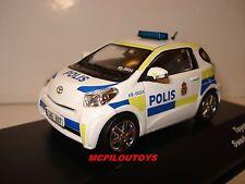 J-COLLECTION JC247 TOYOTA IQ SWEDEN POLICE CAR 2011 au 1/43°
