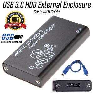 USB-3-0-Externe-3-5-mm-mSATA-Festplatte-Disk-Box-Fall-SSD-HDD-Gehaeuse-w-Kabel