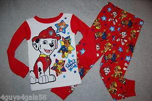 New Boys Girls Kids 3T,4T,5T Paw Patrol Pajama Set Holiday Christmas Nickelodeon