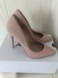 e345e9302f Image is loading Womens-Aldo-Stessy-Pink-High-Heel-Court-Shoe-