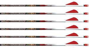 "Easton Bloodline N-Fused 400 Arrows Factory Fletched w/ 2"" Blazer Vanes 6 Pack"